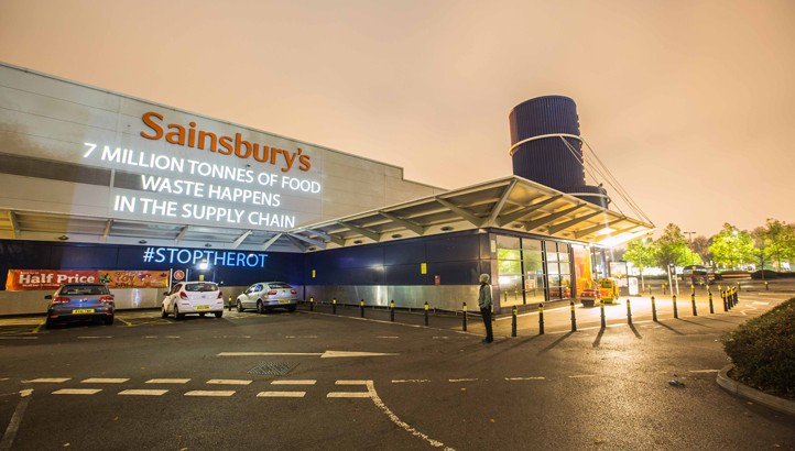 Stop the Rot: Skip of food waste arrives at supermarket HQs