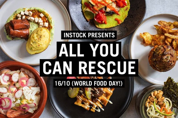 16th October | All You Can Rescue dinner from Instock on World Food Day