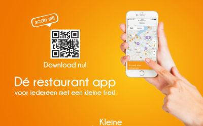 KleinePorties lanceert restaurant app
