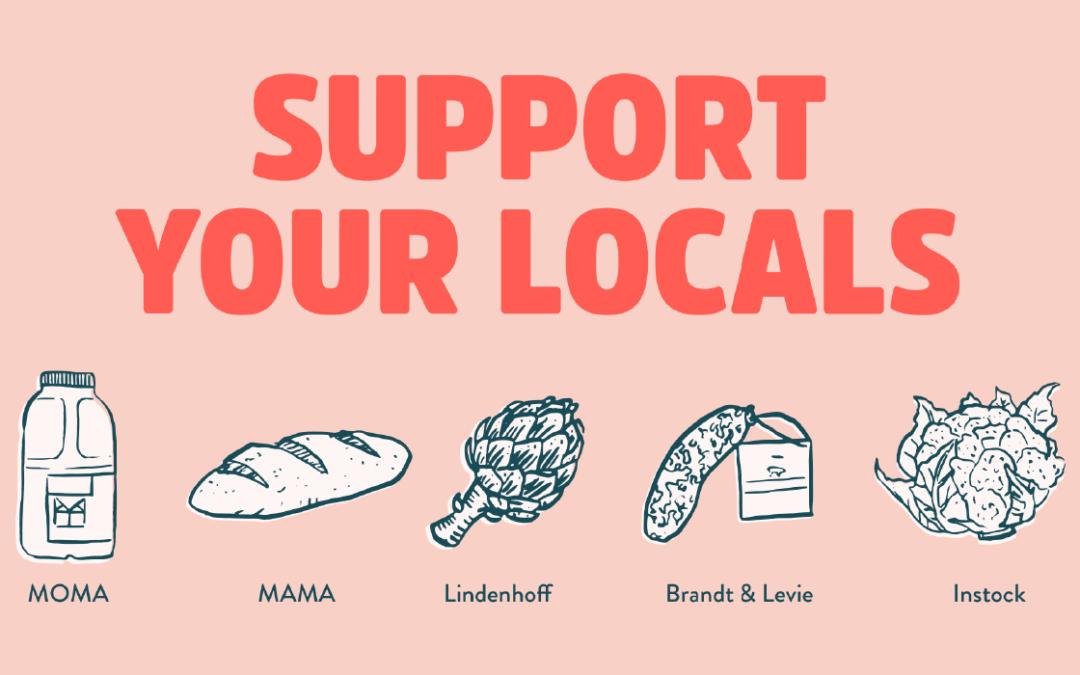 Beeld met logo #supportyourlocals